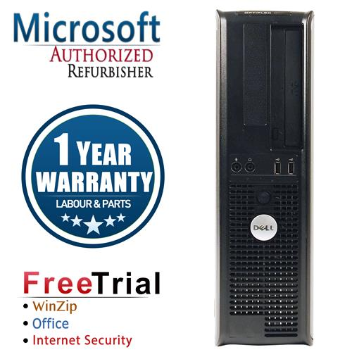 Dell 755 Desktop Intel Core 2 Duo E7600 3.0 GHz , 4G DDR2, 160G HDD , DVD , Windows 7 Pro 64 Bit,1 Year Warranty-Refurbished