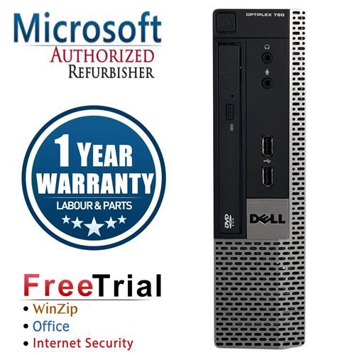 DELL 780 Ultra SFF Desktop Intel Core 2 Duo E8400 3.0 GHz , 4G DDR3 , 160G , DVD , Win 10 Pro 64,1 Yr Warranty-Refurbished