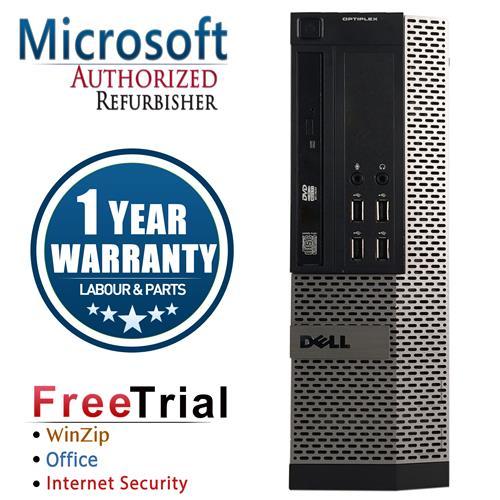 DELL 790 SFF Desktop Intel Core i3 2100 3.1G, 4G DDR3 RAM, 250G HDD, DVD, Windows 7 Pro 64, 1 Year Warranty-Refurbished