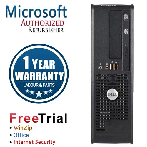 DELL 760 SFF Desktop Intel Core 2 Duo E8400 3.0 GHz , 4G DDR2, 1TB, DVD , Windows 10 Home 64 ,1 Year Warranty-Refurbished