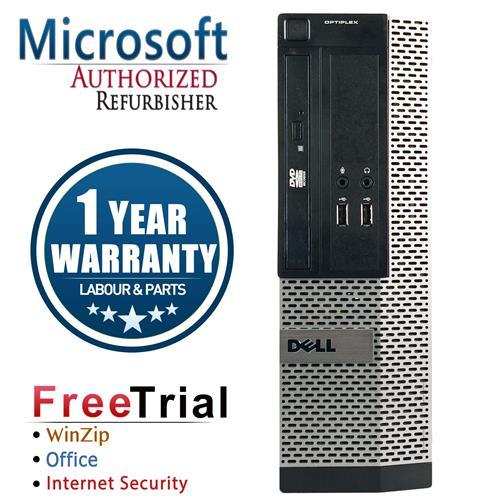 DELL 390 SFF Desktop Intel CORE I5 2400 3.1GHz , 4G DDR3 , 250G , DVDRW , Windows 10 Pro 64, 1 Year Warranty-Refurbished