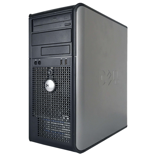 Refurbished DELL 755 Tower Intel Core 2 Duo E6550 2.33 GHz , 4G DDR2 ,160G HDD, DVD , Windows 10 Home 64 Bit