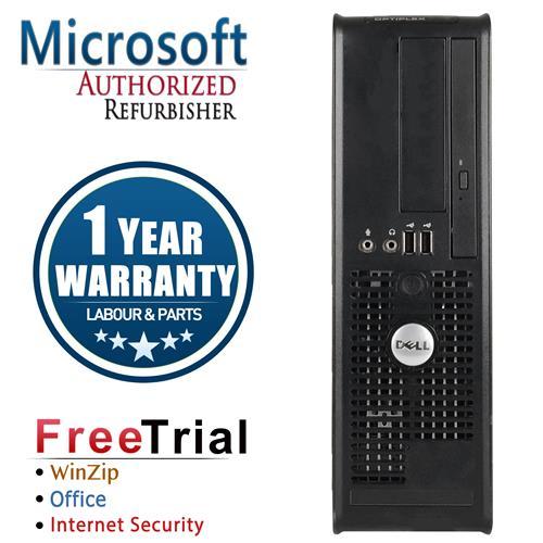 Dell 755 Small Form Desktop Intel Core 2 Duo E6750 2.66GHz, 4G DDR2 , 250G, DVD, Win 7 Pro 64 Bit,1 Year Warranty-Refurbished