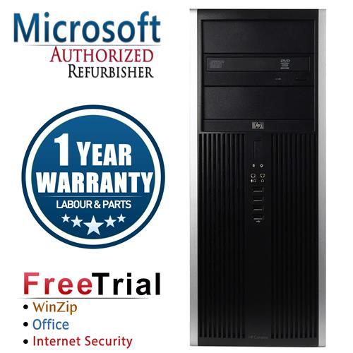 HP Elite 8000 Tower Intel Core 2 Duo E8400 3.0 GHz , 4G DDR3 , 320G , DVD , Windows 10 PRO 64,1 Year Warranty-Refurbished