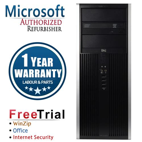 HP ELITE 8000 Tower Intel Core 2 Duo E8400 3.0 GHz , 8G DDR3 , 1TB , DVD , Windows 10 PRO 64,1 Year Warranty-Refurbished