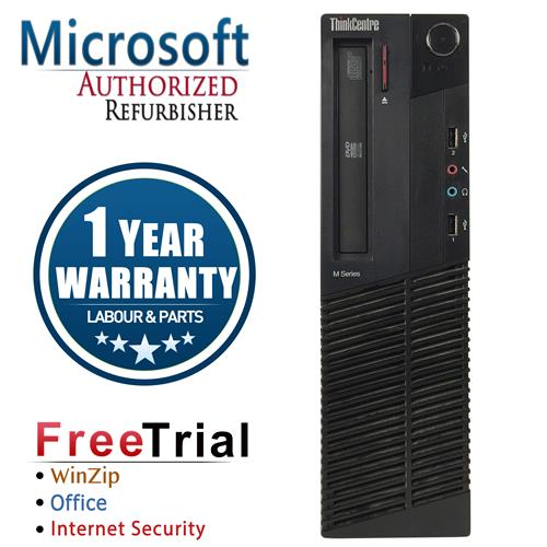 Lenovo M82 SFF Desktop Intel Core i5 3470 3.2GHz , 8G DDR3 ,1TB , DVD , Windows 10 Pro 64 ,1 Year Warranty-Refurbished