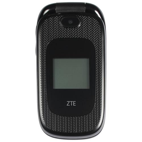 Téléphone cellulaire de 128 Mo Z223 de ZTE offert par Fido - Noir - Prépayé