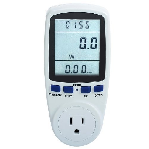 MegaPower (TM) Plug Power Meter Monitor Energy Watt Voltage Amps Meter with Electricity Usage Monitor, Reduce Your Energy Cost