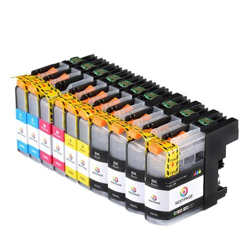 10 Packs LC103XL LC-103XL LC103 XL Compatible Brother Ink Cartridge Use for Brother Printer----4BK+2C+2M+2Y