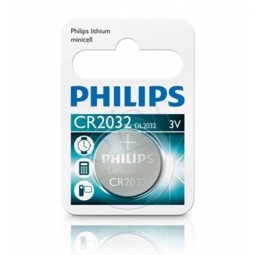 PHILIPS CR2032 3V LITHIUM MINICELLS BATTERY (210mAh) 1PK BLISTER
