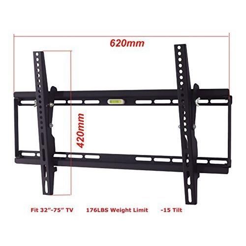 DURAMEX (TM) LCD LED PLASMA TV SMALL TILT WALL MOUNT, SCREEN BRACKET,TILT 15, 32 40 42 46 50 55 60 65 RCA HISENSE LG SAMSUNG