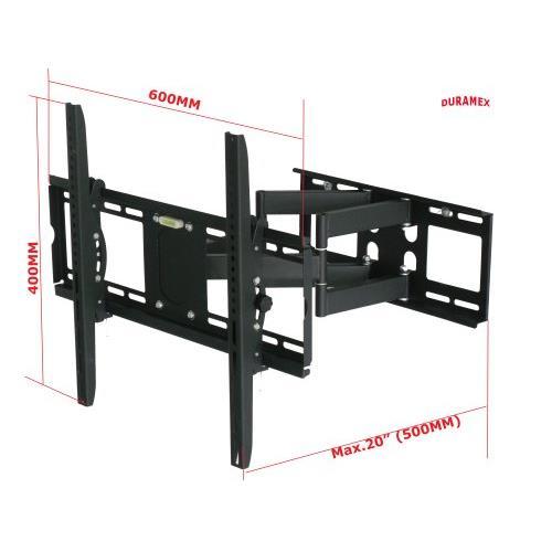 DURAMEX (TM) LCD LED PLASMA TV FLAT PANEL SWIVEL TILT FULL MOTION WALL MOUNT, SCREEN BRACKET, ARTICULATING, CANTILEVER