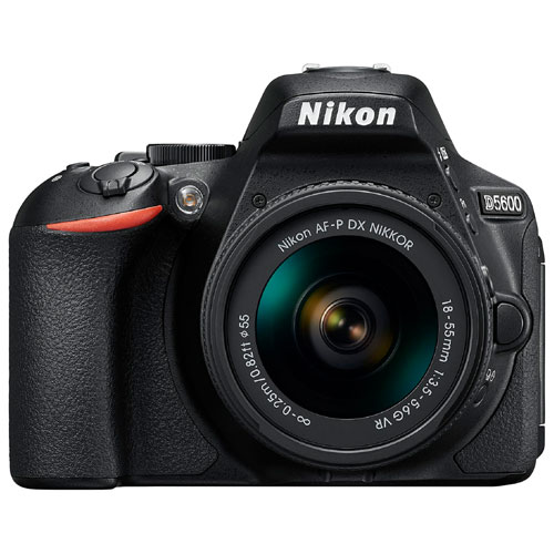 Nikon D5600 DSLR Camera with AF-P DX NIKKOR 18-55mm f/3.5-5.6G VR Lens Kit