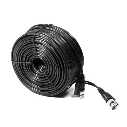 Konex (TM) Black 200ft 200 FT FEET CCTV Security cable for Camera DVR Surveillance Video Power Wire