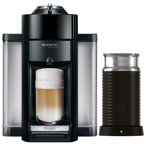 nespresso vertuo coffee expresso machine by de 39 longhi with aeroccino black espresso. Black Bedroom Furniture Sets. Home Design Ideas
