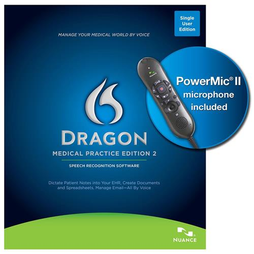 Nuance Dragon Medical Practice 2 with Powermic II