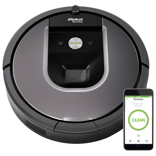 aspirateur robot connect au wi fi roomba 960 d 39 irobot. Black Bedroom Furniture Sets. Home Design Ideas