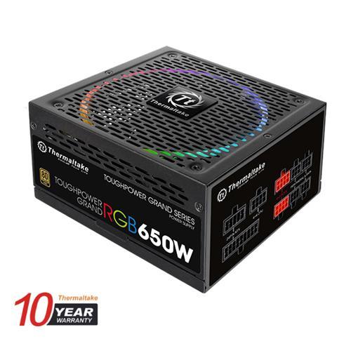 Thermaltake (RGB) 650W Toughpower Grand 80+ Gold Fully Modular Power Supply (TPG-0650FPCGUS-R)
