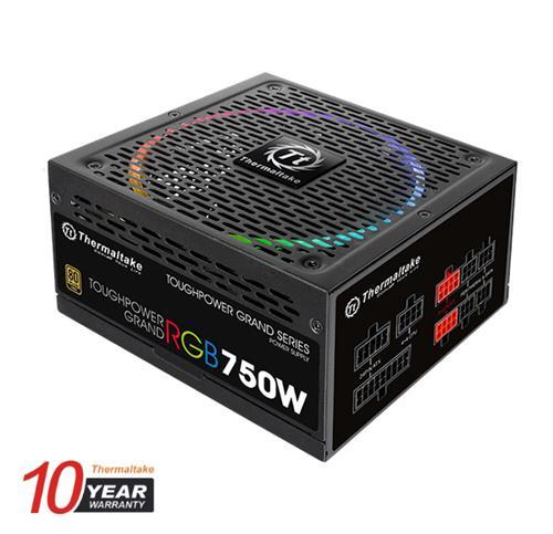 Thermaltake (RGB) 750W Toughpower Grand 80+ Gold Fully Modular Power Supply (TPG-0750FPCGUS-R)