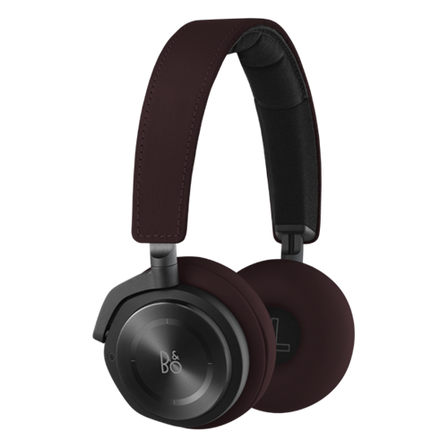 B&O Play H8 (Deep Red) Wireless Noise Cancelling On-Ear Headphones