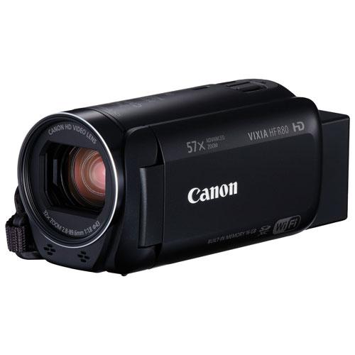 Caméscope HD avec lecteurs pour carte mémoire de 16 Go VIXIA HF R80 de Canon