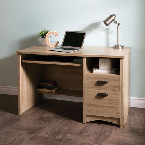 gascony 2 drawer computer desk with keyboard tray rustic oak desks workstations best buy. Black Bedroom Furniture Sets. Home Design Ideas