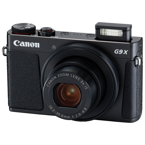 Canon PowerShot G9 X Mark II Wi-Fi 20.1MP 3x Optical Zoom Digital Camera - Black