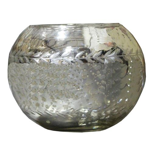 Livevie Champagne Collection Etched Glass Votive