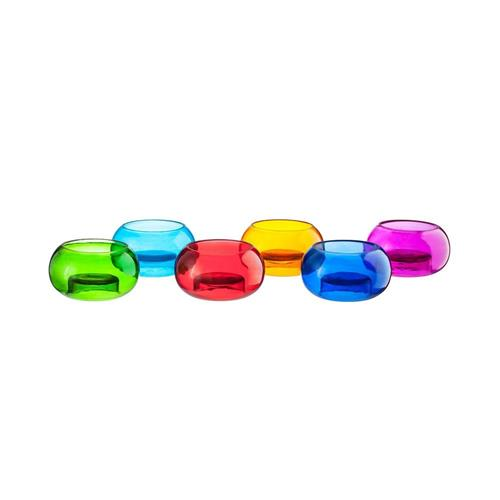 Livevie Set of 6 Glass T-Lite Votive