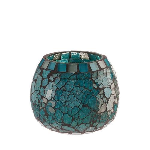 Livevie Blue Moon Glass Ball Votive - Large