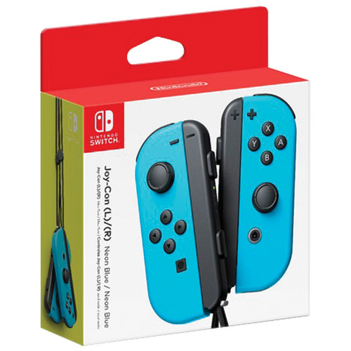 Nintendo Switch Left and Right Joy-Con Controllers - Neon Blue