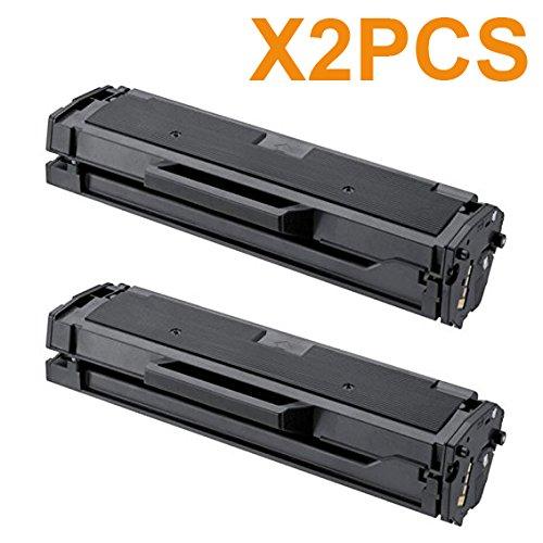 AceToner (TM) 2PCS Toner Cartridge SAMSUNG MLT-D111S Compatible Laser Toners (Black) for Samsung Printer Models; M2020 , M202