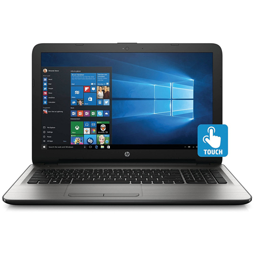 "HP 15-AY169NR 15.6"" Laptop with Intel i5-7200U, 4G RAM, 500G HDD, Touchscreen, Turbo Silver, English"