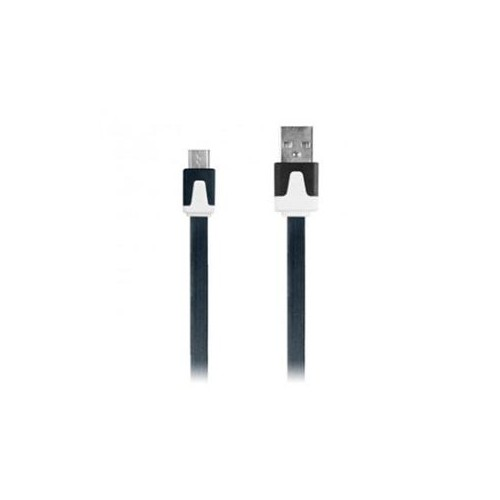 3.3' Flat Micro USB Cable Blk