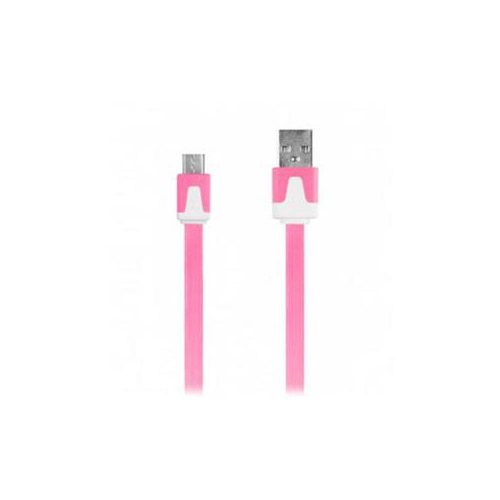 DigiPower iEssentials 1-Meter Flat Micro USB Cable - Pink. The Micro USB 2.0 Flat Cable o (IE-DCMICRO-PK)