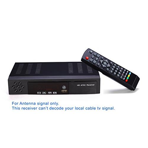 MiiU (TM) ATSC Tuner Digital TV Converter Box and Media Player w/ Recording PVR Function / HDMI Out / Coaxial Out / Composite