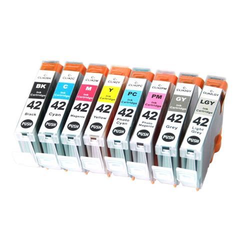 8 Pack Compatible Canon CLI-42 ink cartridge use for Canon Pixma Pro-100 printer