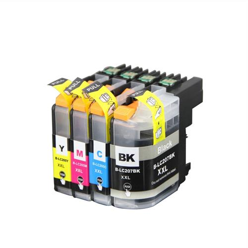 Nextpage® Compatible Brother LC-207XXL BK & LC-205XXL C/M/Y Ink Cartridge BK/C/M/Y use with Brother Printer (4PK Combo LC-207X