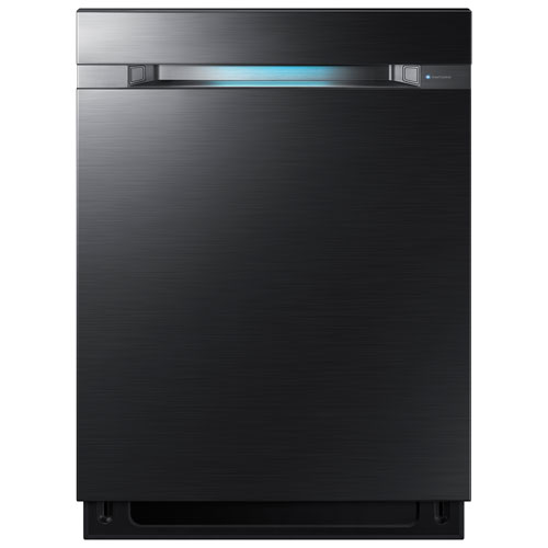 "Samsung 24"" 38dB Built-In Dishwasher with Stainless Steel Tub & Third Rack - Black Stainless Steel"