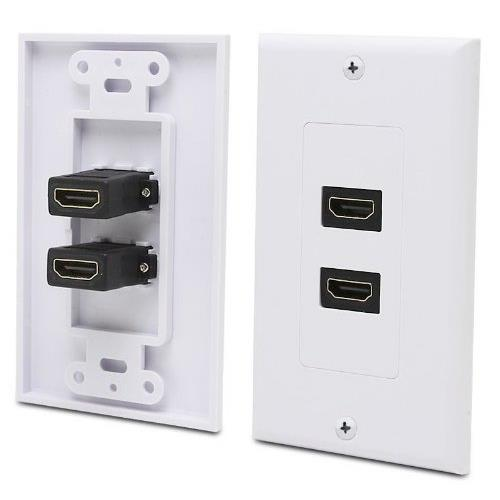 KONEX HDMI Wall Plate with Gold-Plated High Speed HDMI Port (Ethernet Compatible) (Dual)