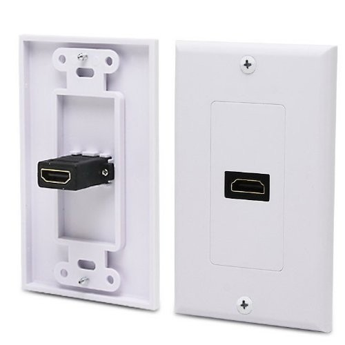 KONEX Single HDMI Wall Plate with Gold-Plated High Speed HDMI Port (Ethernet Compatible)