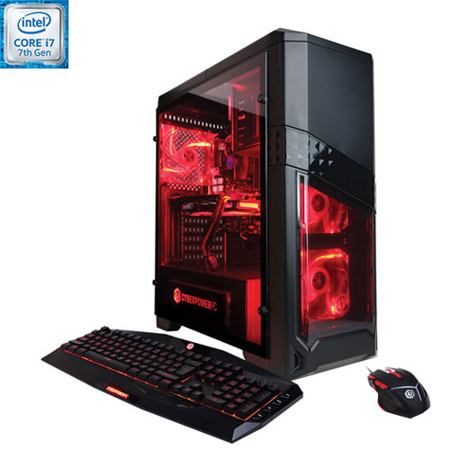 Ordi jeu GXI1010 CyberPowerPC (Core i7-7700 Intel/DD 1 To/RAM 8 Go/GTX 1070 NVIDIA/Windows 10) - Ang