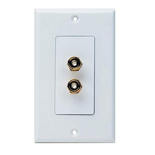 KONEX High Quality Banana Binding Post Two-Piece inset Speaker Wall Plate (2 Terminals)