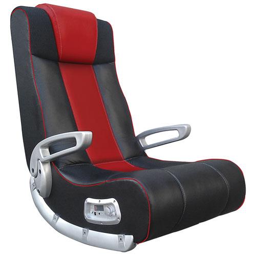 Fauteuil de jeu ergonomique X Rocker II SE avec haut-parleur intégré - Noir - Rouge