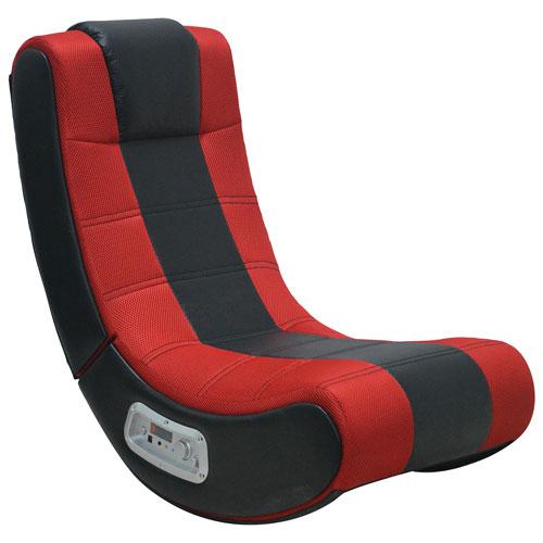 Fauteuil de jeu ergonomique V Rocker SE avec haut-parleur intégré - Noir - Rouge