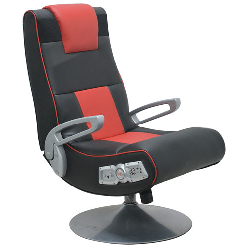 X-Pedestal Gaming Chair - Black/Red
