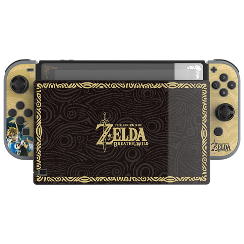 PDP Nintendo Switch Zelda Collector's Edition Screen Protector & Skins - Black/Gold