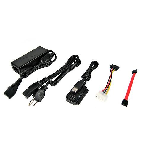 Vantec SATA/IDE to USB 2.0 Adapter Supports 2.5-Inch, 3.5-Inch, 5.25-Inch Hard Disk Drives (Black) (CB-ISATAU2)