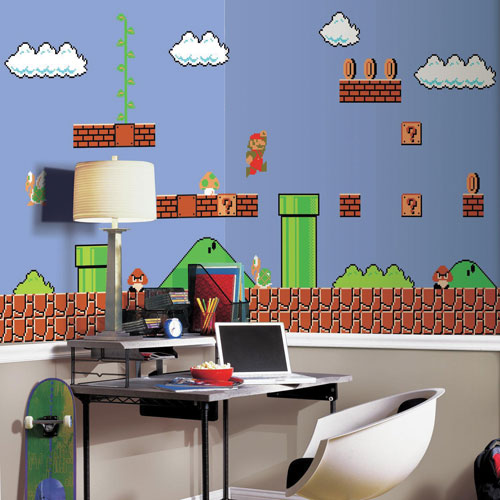 Roommates Retro Super Mario 6 X 105 Wallpaper Mural Nursery