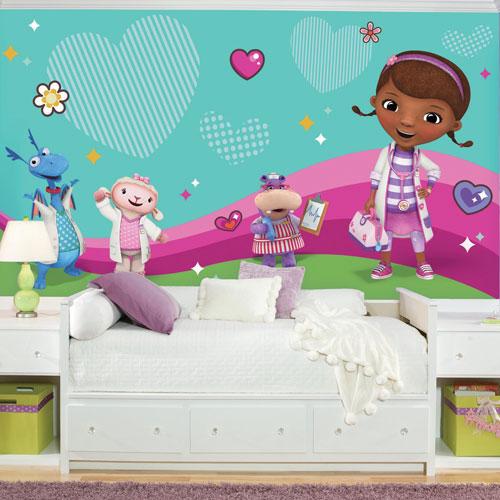 Murale en papier peint de 6 x 10,5 pi Doc Mcstuffins & Friends de Disney de RoomMates